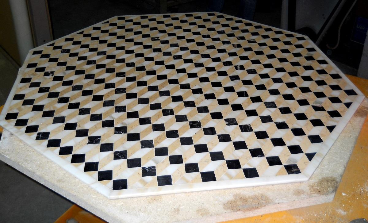 Tavoli Di Marmo Intarsiati : Piano in marmo da tavolo intarsiato antex