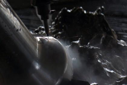 Taglio Titanio per industria aereospaziale
